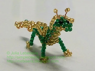 Beaded little dragon