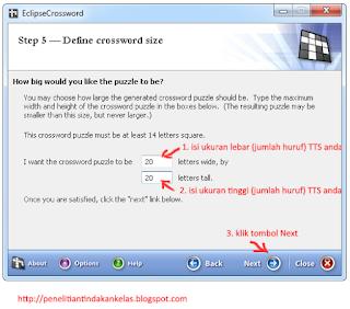 cara membuat TTS dengan EclipseCrossword 6