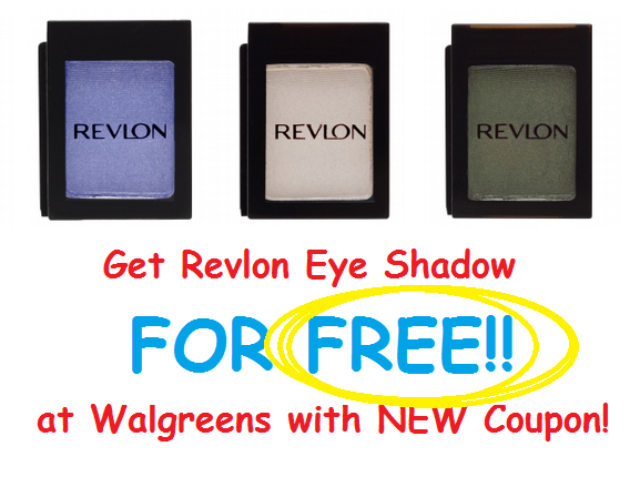 New $2 Revlon Coupon = Get FREE Revlon Eye Shadow at Walgreens!
