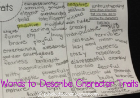 Descriptive Words Character Traits Word List Adjectives