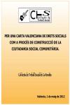 Propuesta de Carta Valenciana de Derechos Sociales  a la de la  Conselleria