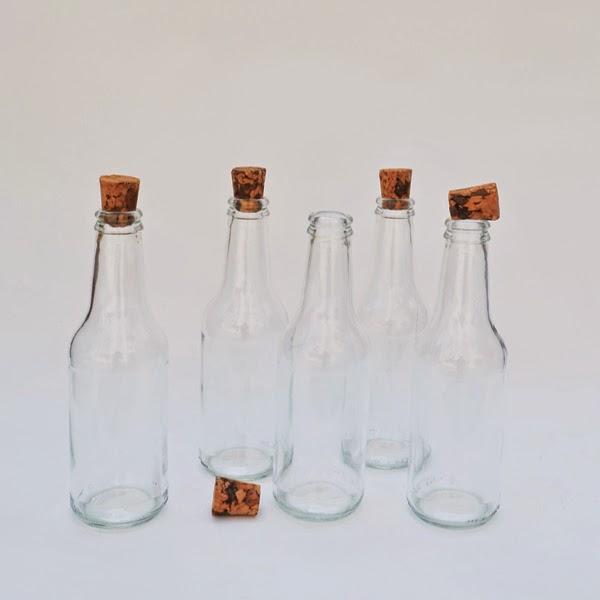 mantar kapaklı meşrubat şişesi