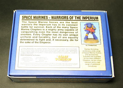 Reverso de la caja Space Marines Warriors of the Imperium