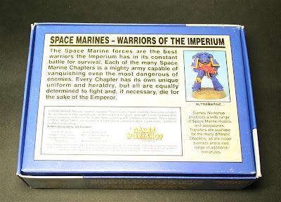 Reverso de la caja Space Marines Warriors of the Imperium