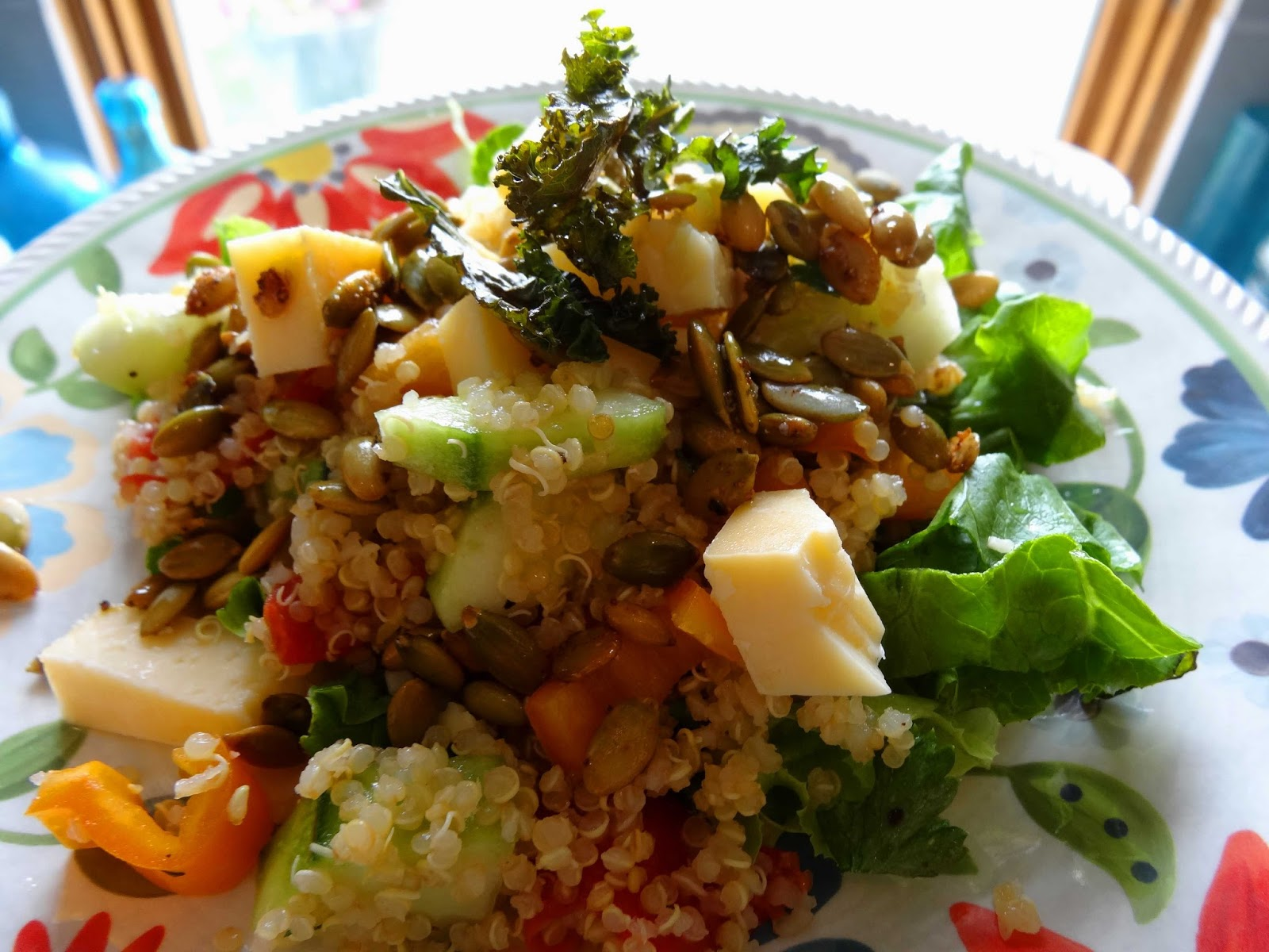 Dinner with Denise: Quinoa Salad with Herbs, Cucumber, Cheese and ...