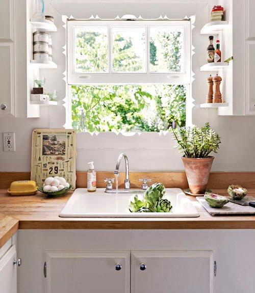 Kitchen Window Shelf: Dream Lane: Such Pretty Kitchens