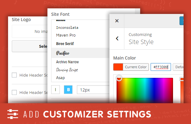 sneeit framework plugin - back-end for wordpress themes - customizer panels, sections, settings