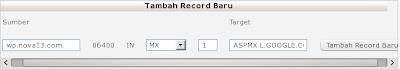 Tambah record baru