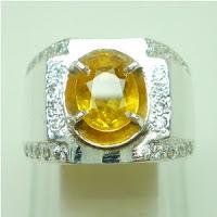 Natural, Yellow Sapphire, Batu, Permata, Asli, Bergaransi, Murah