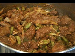 MEAT WITH OKRA/BHINDI MEAT
