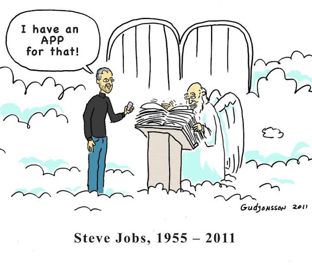 Steve Jobs Death Cartoon