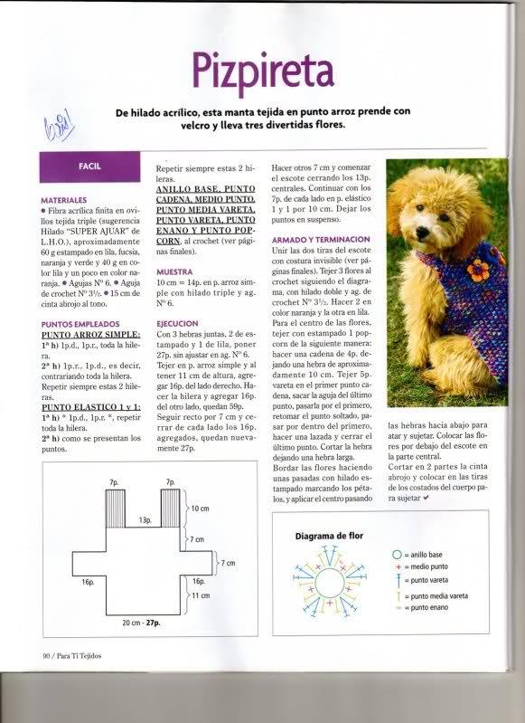 TRICO y CROCHET-madona-mía: Ropa para perros con pádron