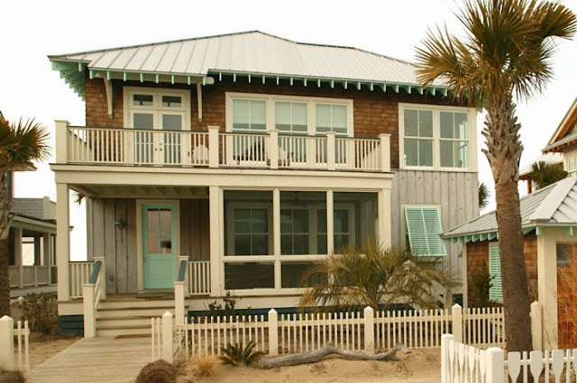 traditional beach house