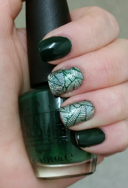 Dark Green Nail Polish Designs