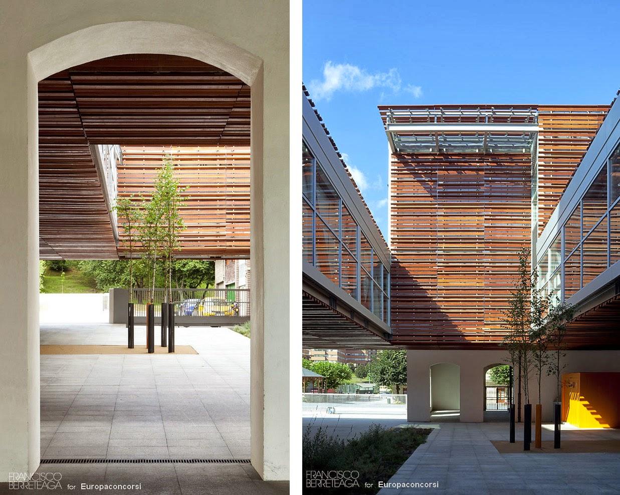 Colegio gandasegi francisco berreteaga espacios en madera - Celosia de madera ...