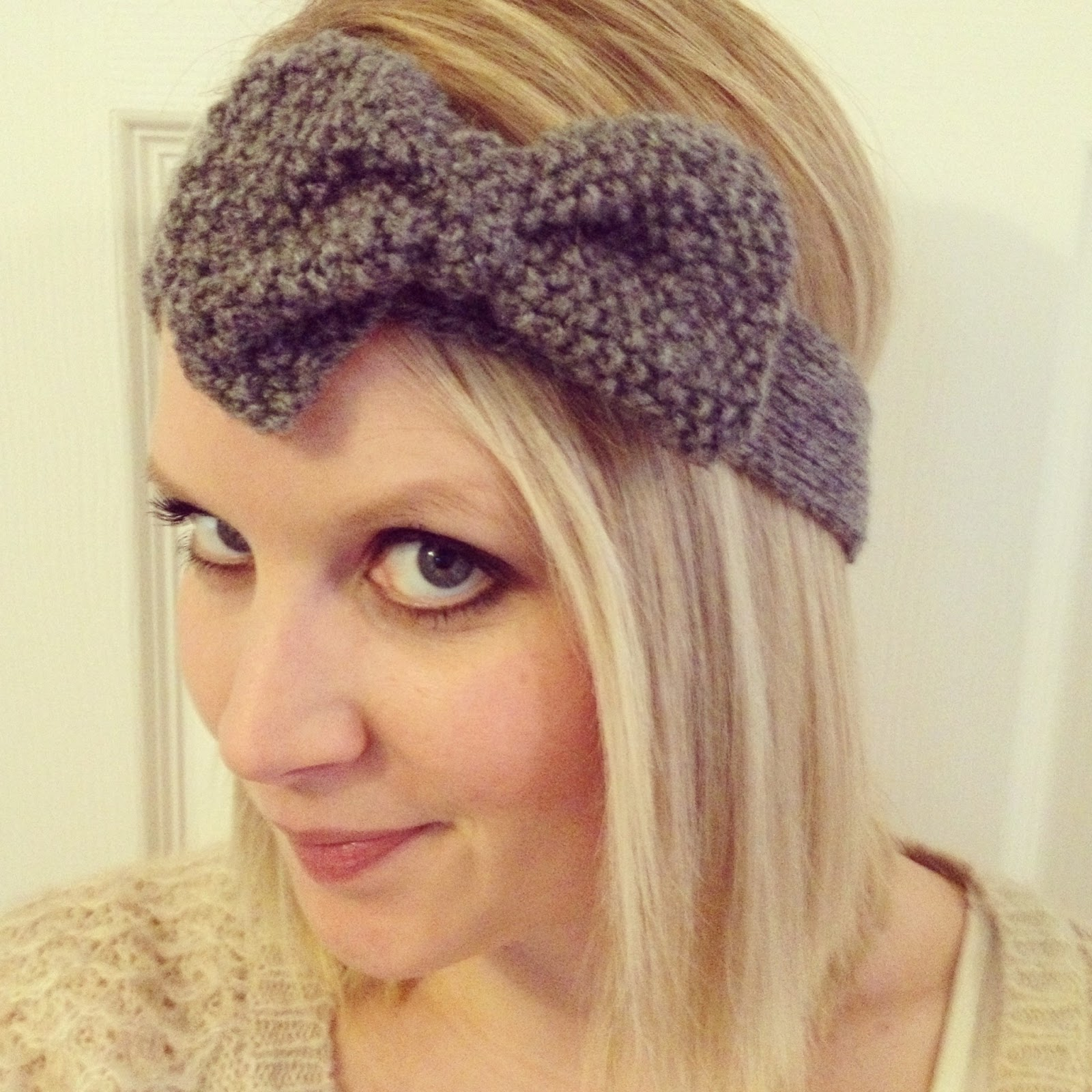 My First Knitting Project - Cute Bow Headband! Fizzy ...