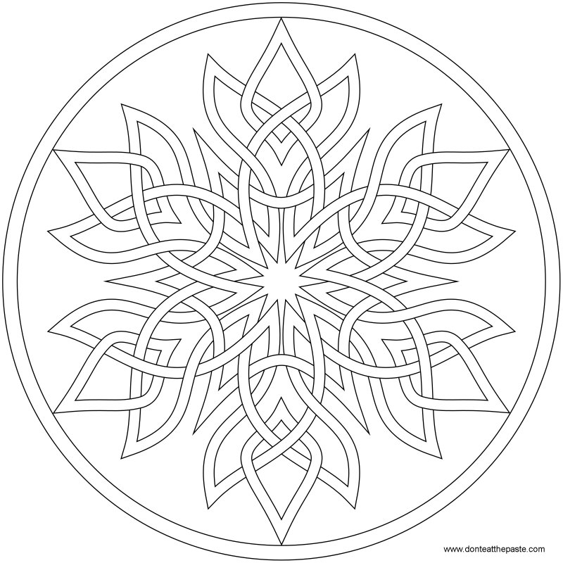 Dont Eat the Paste Snowflake Mandala to color and news