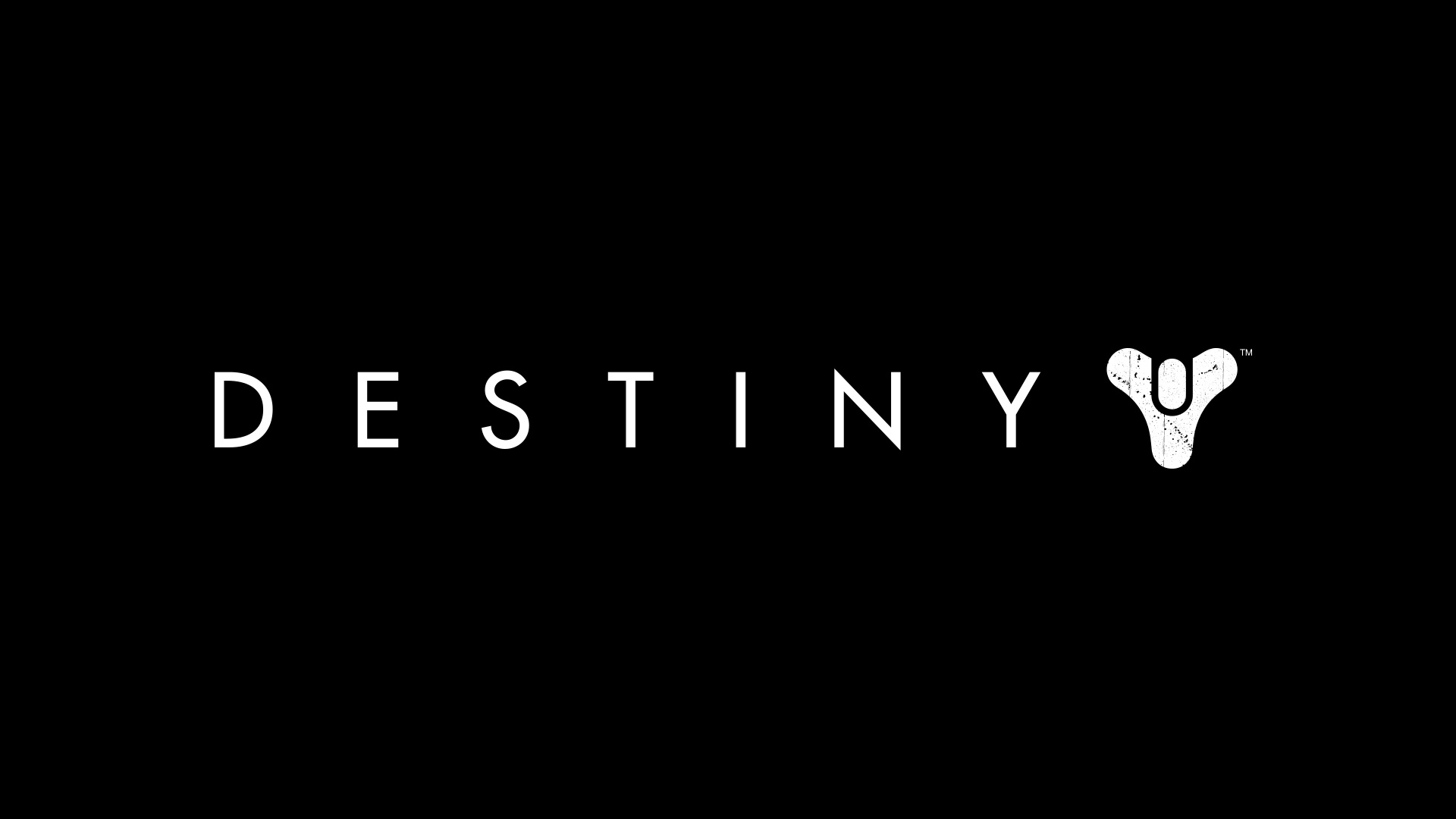 Logo Of Destiny Game Black Background HD 1920x1080 1080p