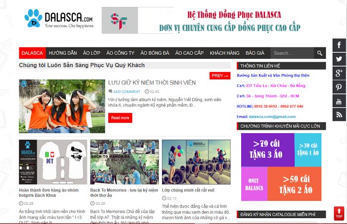 Chia sẻ Template Blospot Dalasca cho trang bán hàng