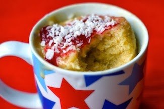 Recipe of the week: Coconut and Raspberry microwave cake