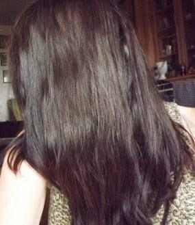 To nie japoński horror! To włosy po olejowaniu :)