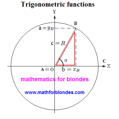 A triangle is in a circumference. Mathematics for blondes.