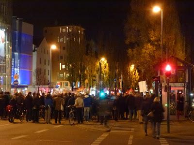Pegida, Mob, Marsch auf die Feldherrenhalle, München, Schwabing