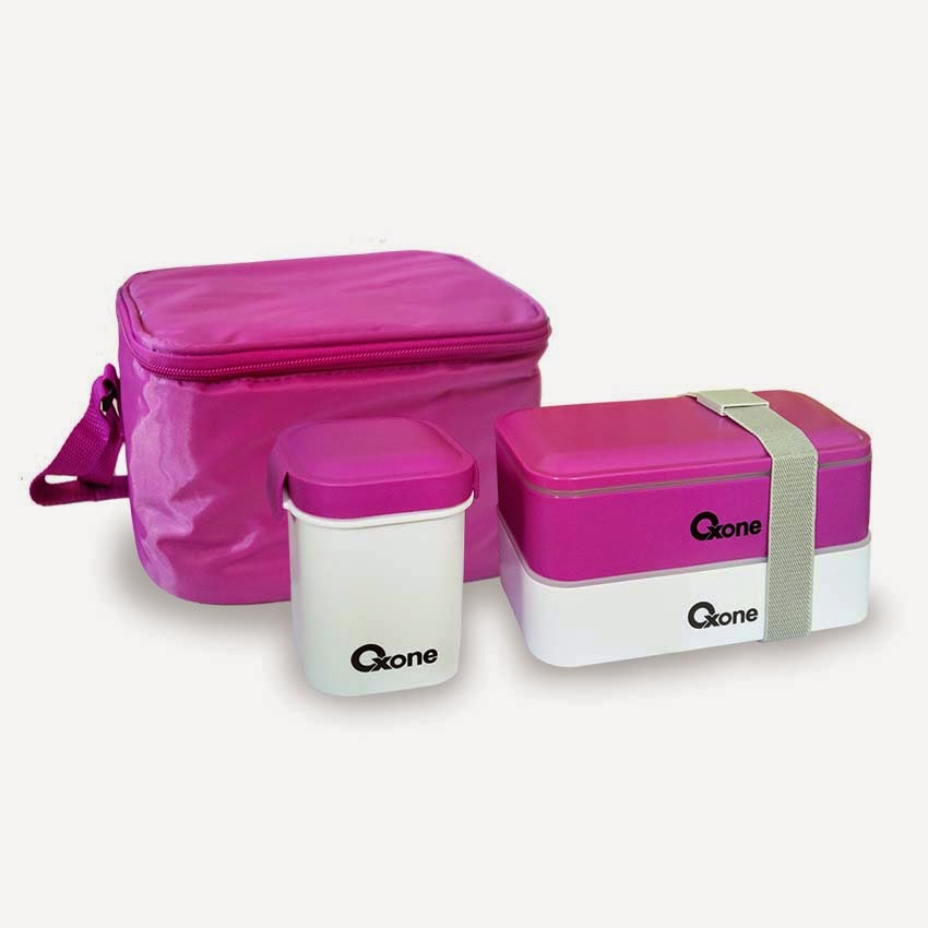 OX-068 Oxone BENTO BLOCK with Thermal Bag  - Ungu