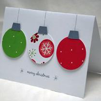 christmas for cards colour full balls