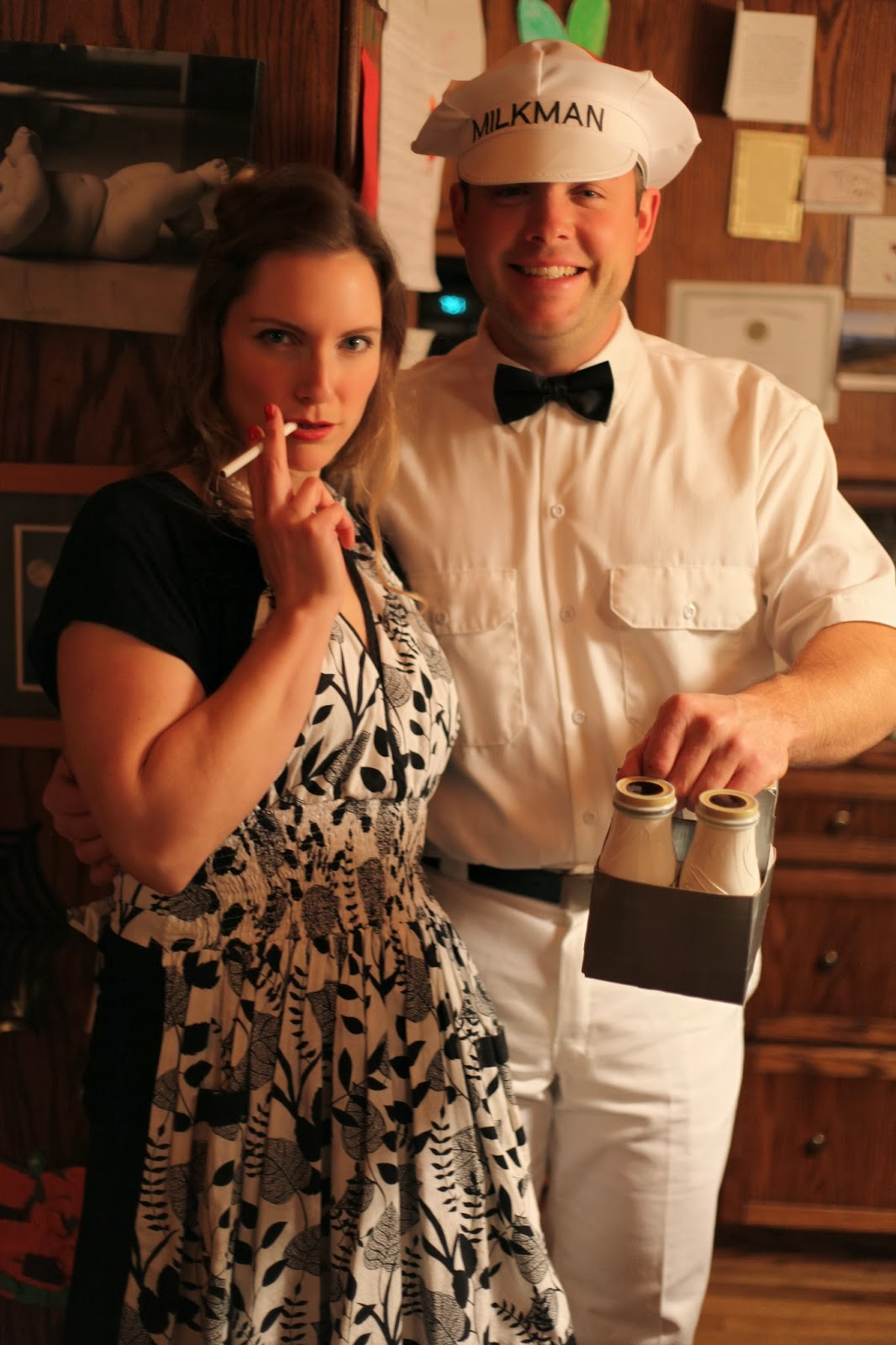 Wife And Milkman Costume Retro Milkman And Wife