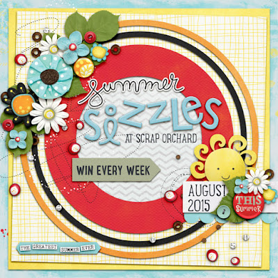 Scrap Orchard Summer Sizzles Digital Scrapbook Promo