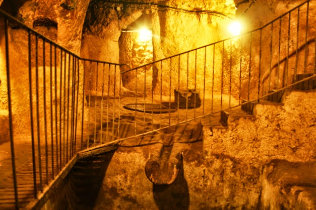 ... Underground City Is 85 Meters Deep Containing The Usual Rooms Which Is  Normally Found In An Underground City, With Cellars, Storage Rooms,  Refectories, ...