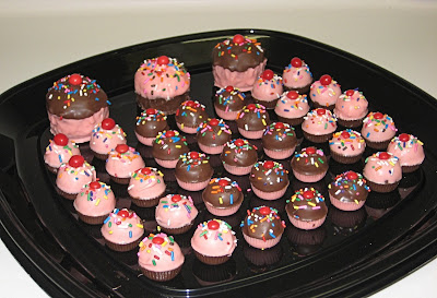 Cupcake Bites and Dipped Cupcakes - Angled View