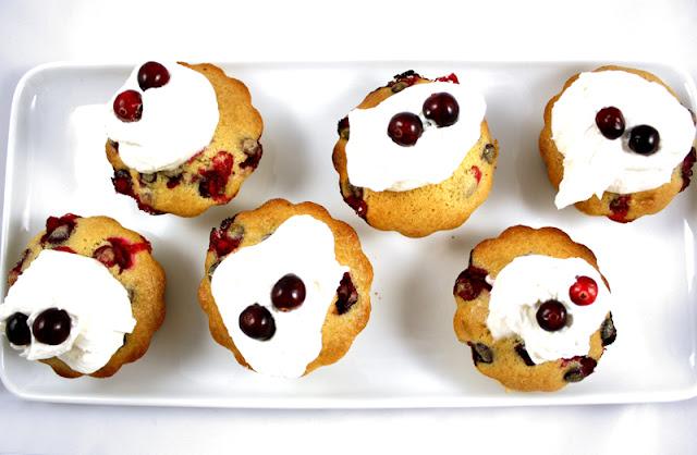 Oppskrift Tranebærmuffins Vegansk Julebakst Ferske Tranebær Muffins Uten Egg