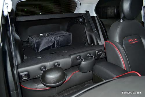 Fiat 500X Rear Seat Folded Down