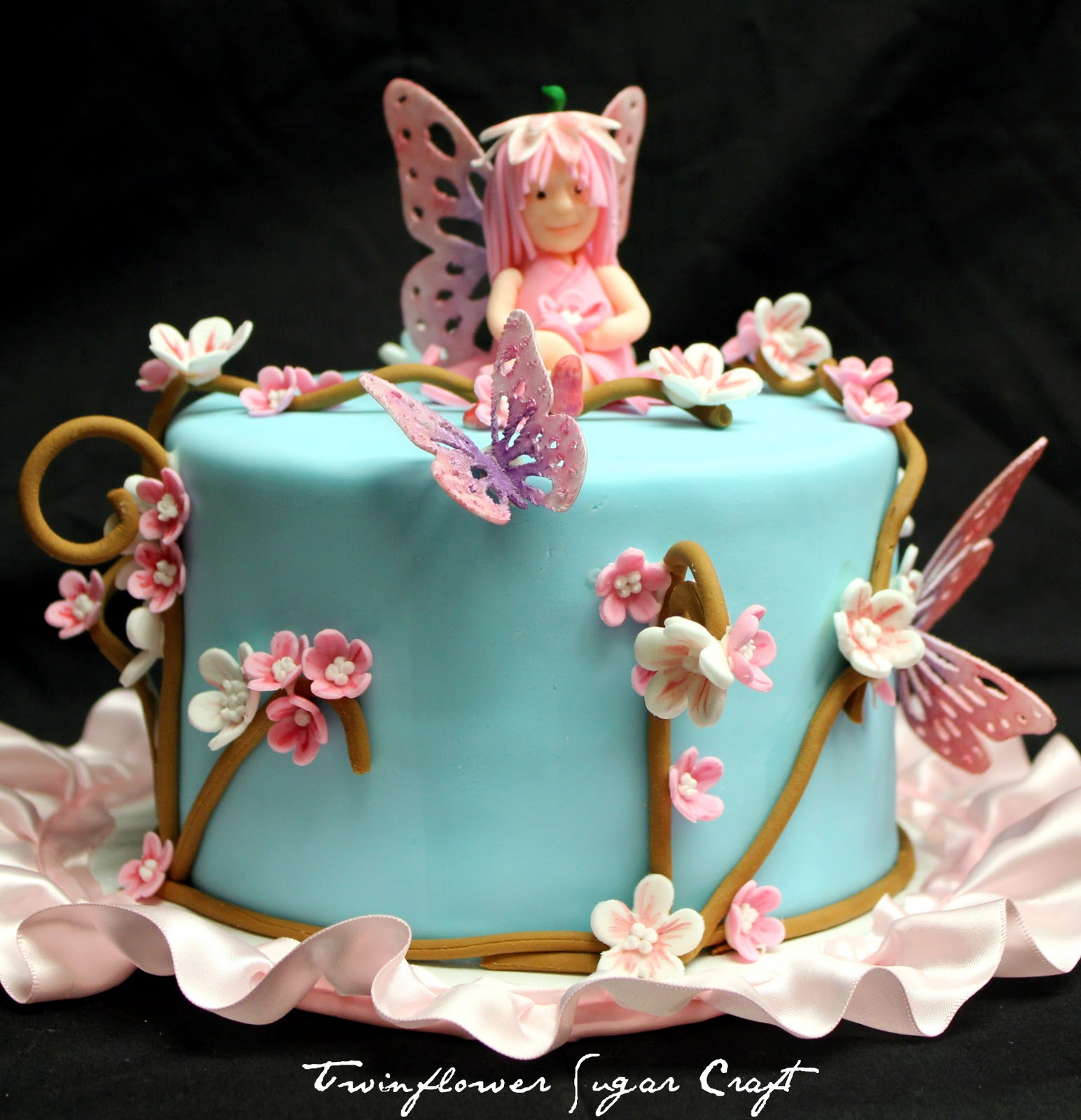 Twinflower sugar craft flower fairies for Fairy cakes