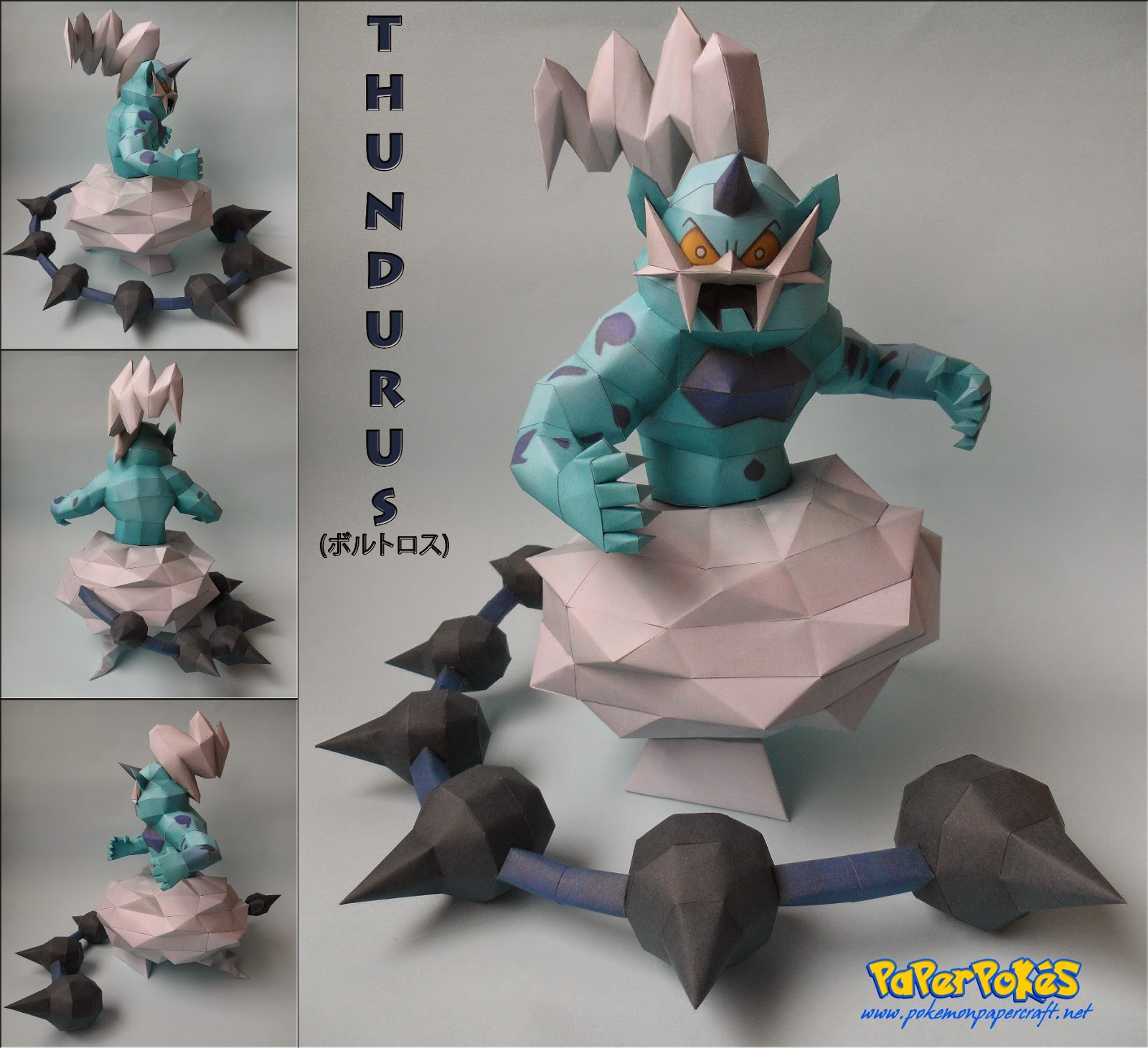 Pokemon Thundurus Papercraft