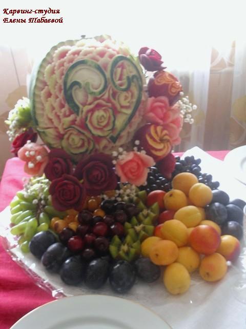 свадебная композиция из фруктов свадьба