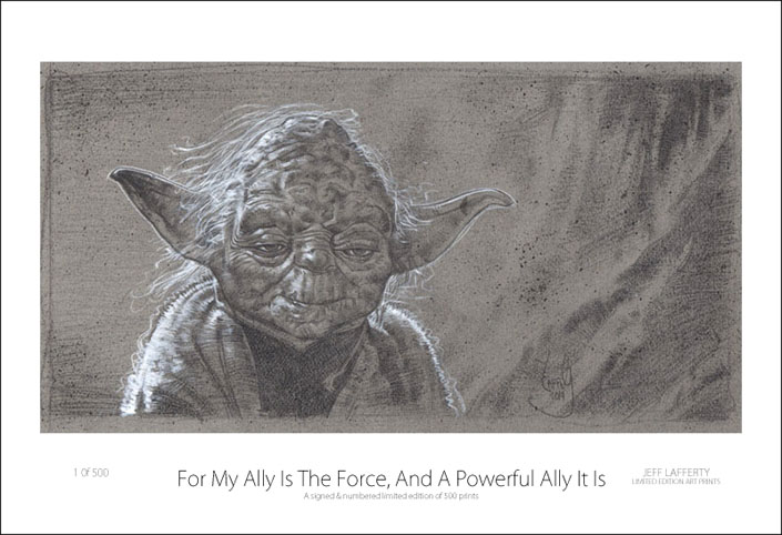 Yoda Print, Artwork © Jeff Lafferty 2014