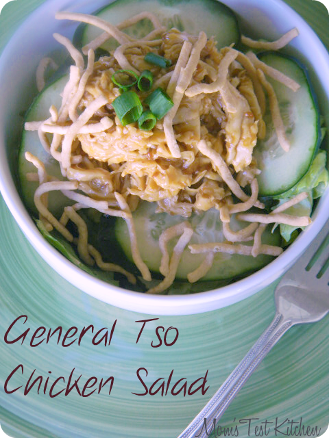 General Tso Chicken Salad - Guest Post from Mom's Test Kitchen | #salad #chicken cupcakesandkalechips.com