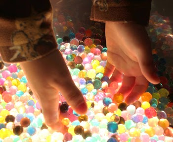 Sensory Play Time: Water Beads and Light