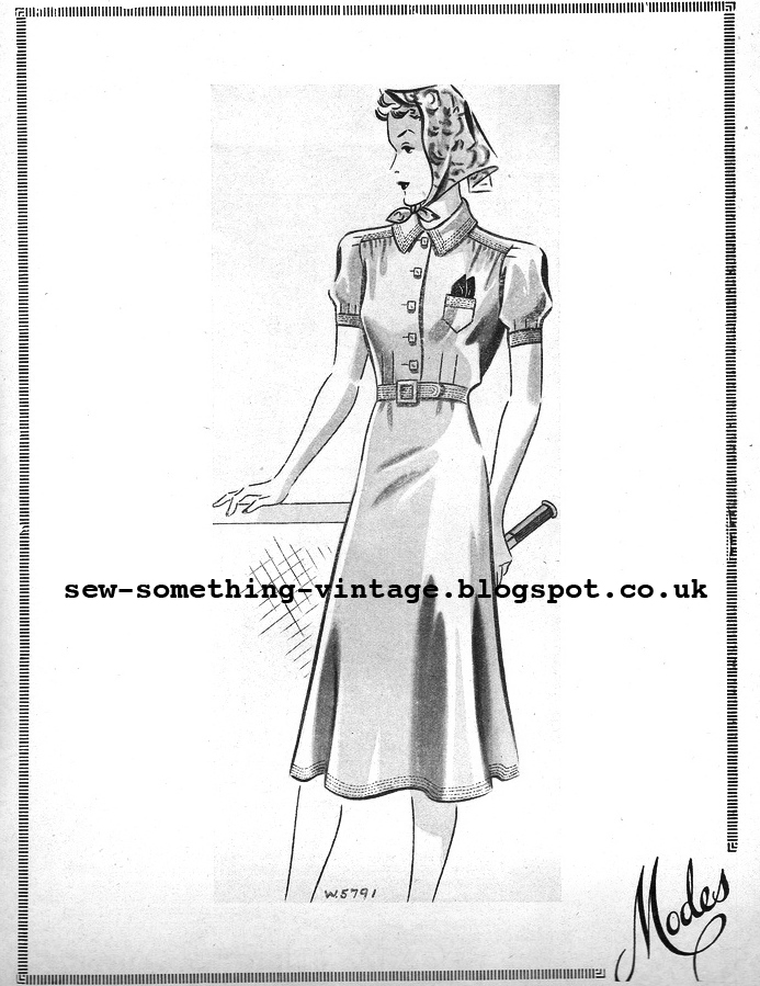 Free 1930's Sewing Pattern - Tennis Frock