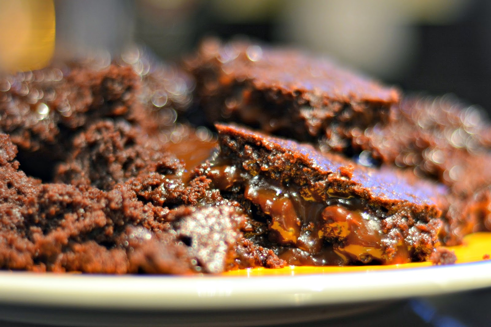 Oozing Salted Caramel Brownies