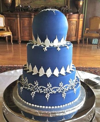 Wedding Cake Designs Blue And White : Blue And White Wedding Cake Designs - Tyler Living