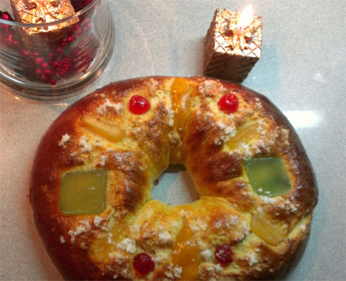 El haba del rosco o roscón de Reyes