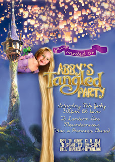 Tangled Party Personalized Invitation - regular format