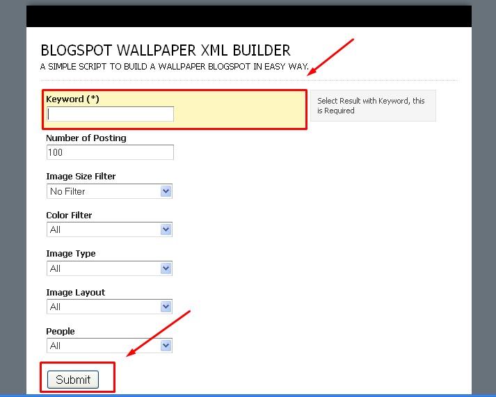 Cara Cepat Membuat Blog Wallpaper di Blogspot V.2