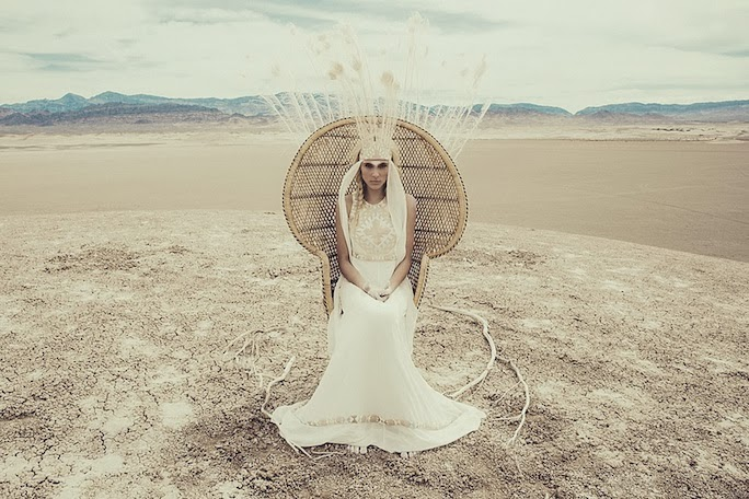 Mara Hoffman bohemian bridal dress