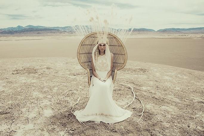 Mara Hoffman bohemian bridal dress