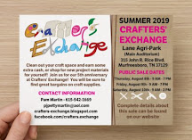 August 2019 Crafters' Consignment Sale Flyer